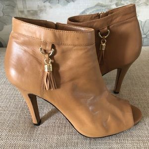 "Vince Camuto ""Kevia"" Caramel Color Leather Bootie"